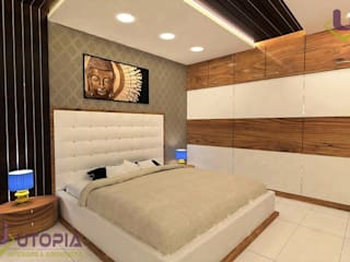 Completed Interior project for Mr.Rahul in Patna Utopia Interiors and Architects Asian style bedroom