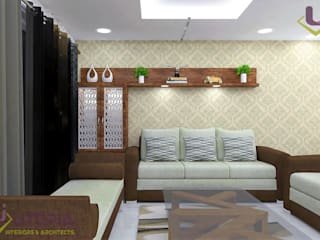 Completed Interior project for Mr.Rahul in Patna Utopia Interiors and Architects Asian style living room