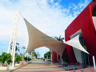 Expo Mundo Imperial Estructuras ligeras Centros de exposiciones de estilo moderno Blanco