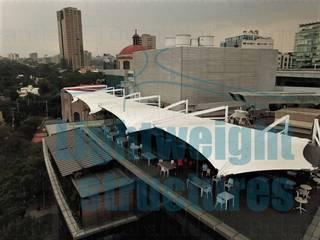 Centro T3lecom Estructuras ligeras Gastronomía de estilo moderno Blanco