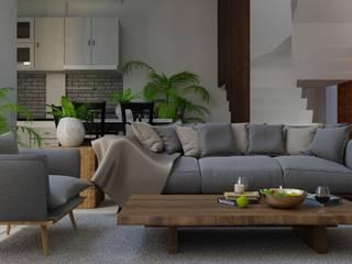 Tomy House DiArsitekin Ruang Keluarga Modern Kayu Wood effect