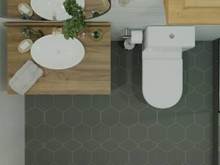 Hera House DiArsitekin Kamar Mandi Klasik Keramik Grey