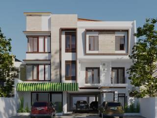 ELVA BOARDING HOUSE DiArsitekin Ruang Komersial Klasik Beton White