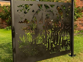 The Grazing Horses Design Patio screen or Fence panel - part of Equestrian Collection Logi Engineering Limited Garden Fencing & walls Iron/Steel Black