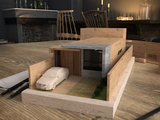 GLE Arquitectura Small houses Wood White