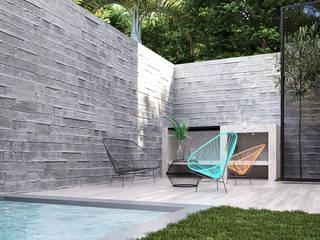 GLE Arquitectura Modern balcony, veranda & terrace White
