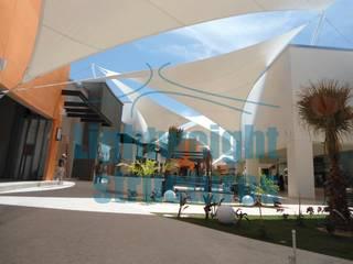 Galerías la Paz Estructuras ligeras Centros comerciales de estilo moderno Blanco