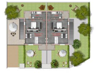 Planimetrie 2D appartamento villino bifamiliare di Stefano Mimmocchi Rendering