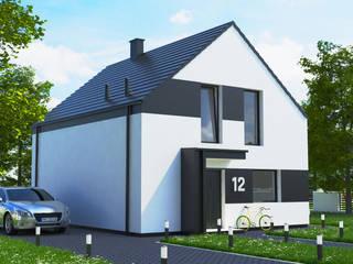Dom energooszczędny 123,13 m2 Poznań. od Dom Pełen Energii Nowoczesny