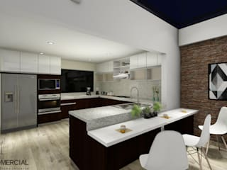Design Comercial Modern kitchen
