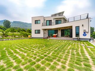 햇살 가득, 30평대 남향 전원주택 by 한글주택(주) 모던