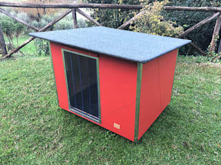 Pet House Design® Front yard Wood Red