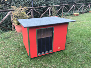 Pet House Design® Garden Shed Wood Red