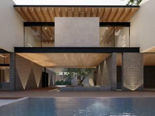 Casa Tulipanes Salones minimalistas de TDT Arquitectos Minimalista