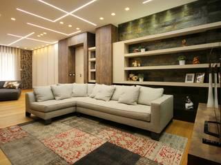Studio Ferlenda Salas de estilo moderno Pizarra Beige