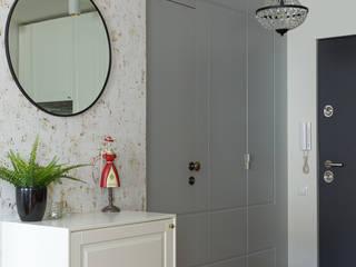 Kawalerka w stylu Boho IDEALS . Marta Jaślan Interiors Eklektyczny korytarz, przedpokój i schody