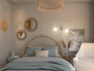 Camera da letto in stile scandinavo di Studio AW Arquitetura Scandinavo