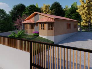 di Studio AW Arquitetura Rustico