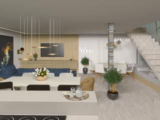 Sala da pranzo moderna di Studio AW Arquitetura Moderno