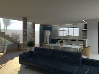 Soggiorno moderno di Studio AW Arquitetura Moderno