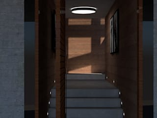 Corredores, halls e escadas industriais por Studio AW Arquitetura Industrial