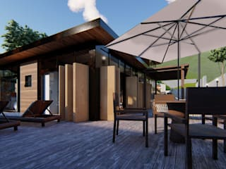 Casas industriais por Studio AW Arquitetura Industrial