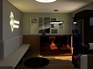 Corredores, halls e escadas modernos por Studio AW Arquitetura Moderno