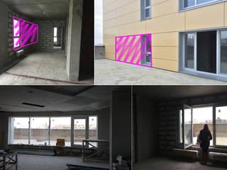 Minimalistyczne ściany i podłogi od Студия дизайна интерьера 'Золотое сечение' Minimalistyczny