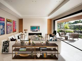 Majorca villa Mediterranean style living room by niche pr Mediterranean