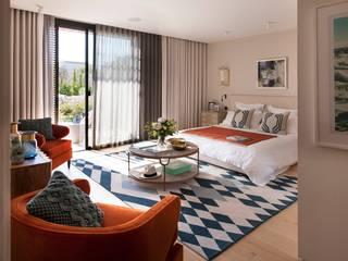 Majorca villa Mediterranean style bedroom by niche pr Mediterranean