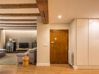 Casa Samaniego Destudio Arquitectura Pasillos, vestíbulos y escaleras de estilo mediterráneo