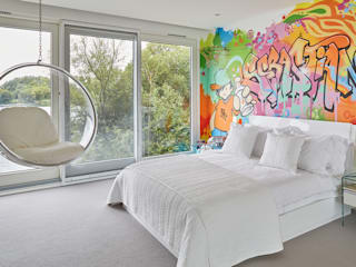 Cotswolds family home Modern style bedroom by niche pr Modern