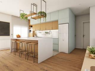 Diana Martins Interiores Scandinavian style kitchen