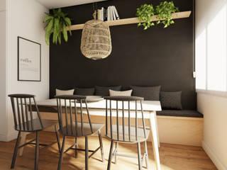 Scandinavian style dining room by Diana Martins Interiores Scandinavian