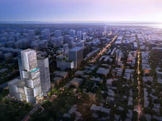 Cambodia's Beacon of Contemporary Design: The Chipmong Tower by Architecture by Aedas Modern