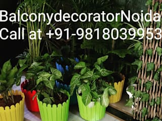 Balcony Makeover in Homes 121 Noida: asian  by Balcony Makeover and Decorators,Asian