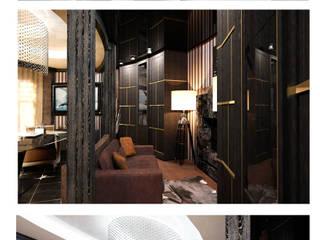 Библиотека Veronika Brown Studio Гостиные в эклектичном стиле
