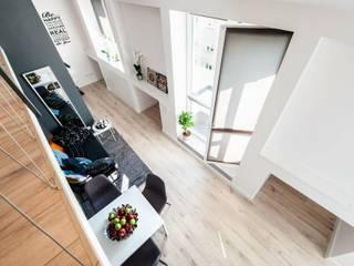 Studio Modelowania Przestrzeni Livings de estilo industrial