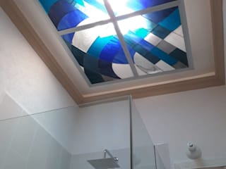 MKVidrio BathroomDecoration Glass Blue