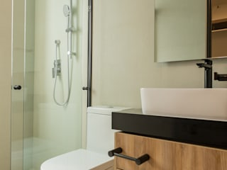 emARTquitectura Arte y Diseño モダンスタイルの お風呂