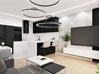 Wkwadrat Architekt Wnętrz Toruń Living room Wood White