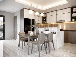 Modern Dining Room by Công ty TNHH Nội Thất Mạnh Hệ Modern