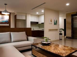 舒心宅 松泰室內裝修設計工程有限公司 现代客厅設計點子、靈感 & 圖片 木頭 White
