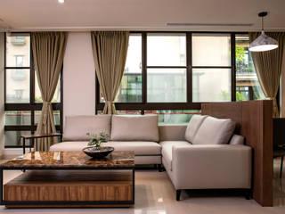 舒心宅 松泰室內裝修設計工程有限公司 客廳沙發與扶手椅 合成纖維 White