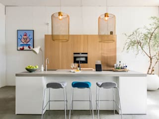 NewLook Brasschaat Keukens Industrial style kitchen Wood White