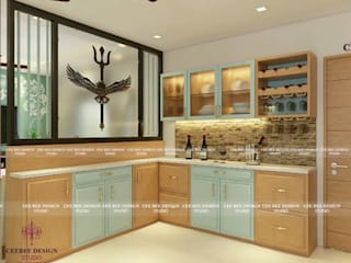 Contemporary Interior Design in Kolkata - 3BHK Country style kitchen by Cee Bee Design Studio Country