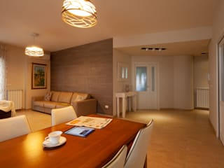 antonio felicetti architettura & interior design Ruang Keluarga Modern Kayu Beige