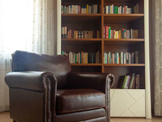 antonio felicetti architettura & interior design Modern living room Wood Brown