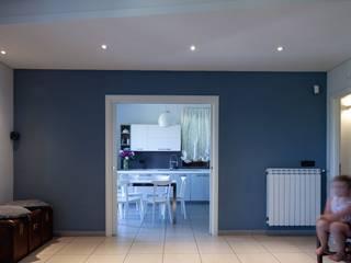 antonio felicetti architettura & interior design Modern living room Concrete Multicolored