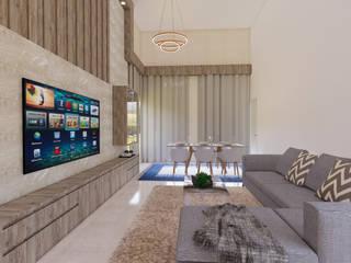 Гостиная в стиле модерн от Monteiro arquitetura e interiores Модерн